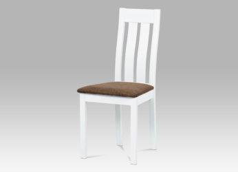 elegantní dřevěná bílá židle BC-2602 WT