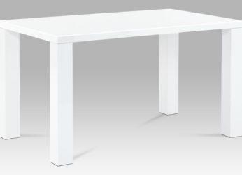 moderní jídelní stůl v bílém lesku AT-3007 wt