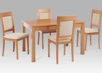 jídelní stůl BT 4676 BUK3,židle BC 3960 BUK3 Ukázka Sestavy
