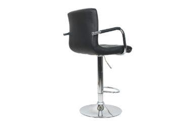 Barová židle LEORA černá Boční Pohled