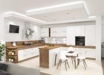 Kuchyňská linka Vernon bílý lesk