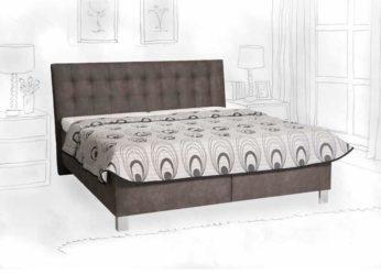 manželská postel s volně loženými matracemi Viktoria
