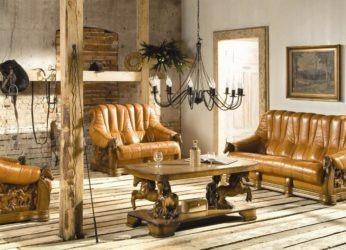 luxusní kožená sedačka s koňmi Oskar