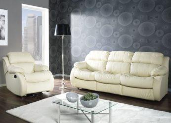luxusní kožená sedací souprava s relaxem Reglainer