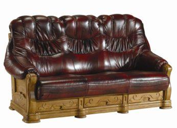 rustikální kožená sedačka Kevin - trojsed