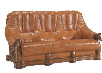 luxusní kožená sedačka s koňmi Oskar - trojsed