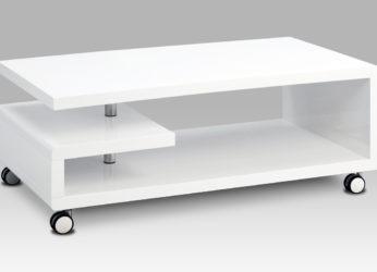 moderní hranatý stolek na kolečkách AHG-618 WT