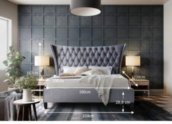 luxusní postel Alesia 160 rozměry