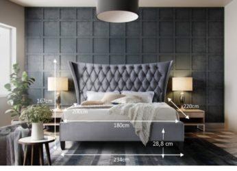 luxusní postel Alesia 180 rozměry