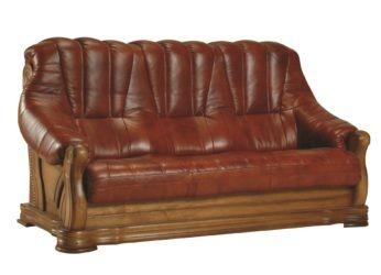 kožená sedačka Fryderyk - trojsed